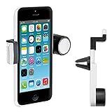 kwmobile Support ventilation pour Apple iPhone 5C - Support automobile pour fente d'aération en blanc...