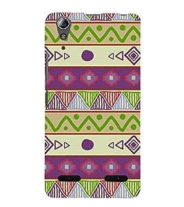 Ethenic Tribal Art 3D Hard Polycarbonate Designer Back Case Cover for Lenovo A6000 Plus