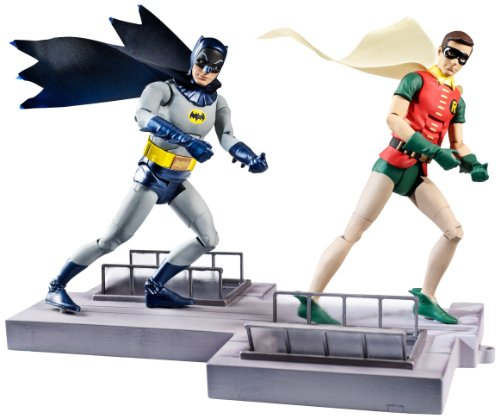 DC Comics Classic TV Series Batman and Robin Action Figure, 2-Pack