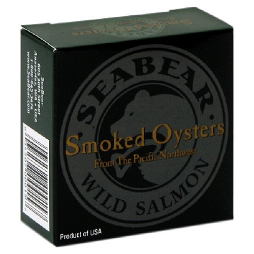 Buy SeaBear Smoked Pacific Oysters, 3.0-Ounce Units   (Pack of 4)