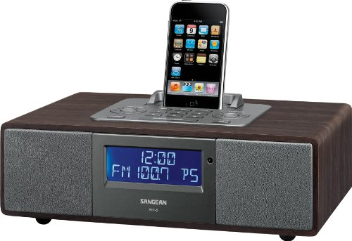 Sangean Wr-5 Hi-Fi Am/Fm-Rds Table-Top Radio With Ipod Dock (Dark Walnut)