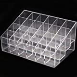 Eforcase 24 Frame 4x6 Clear Lipstick Cosmetic Stand 24 Lipstick Cosmetics Display Shelf Nail Polish Organizer Makeup Cosmetic Display Holder Cases Bags Storage