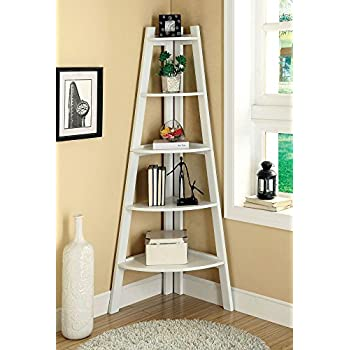 247SHOPATHOME IDF-AC6214WH Bookcases, White