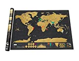 Umiwe(TM) Novelty World Map Educational Scratch Off Map Poster Travel Map Wall Map,Black With Umiwe Accessory