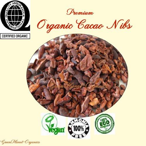Cocoa Nibs Combo: 2Lbs Roasted+2Lbs Raw Un-Roasted (Certified Organic, Gmo Free & 100% Vegan)