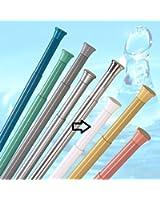 ALU barre pour rideau de douche 140 cm - 250 cm blanche barre télescopique barre avec bornes!