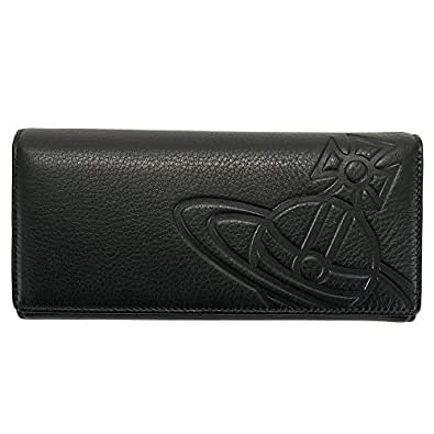 ヴィヴィアンウエストウッド Vivienne Westwood 財布 長財布 メンズ 二つ折り オーブ型押し ブラック 32-872 TUNER BLACK