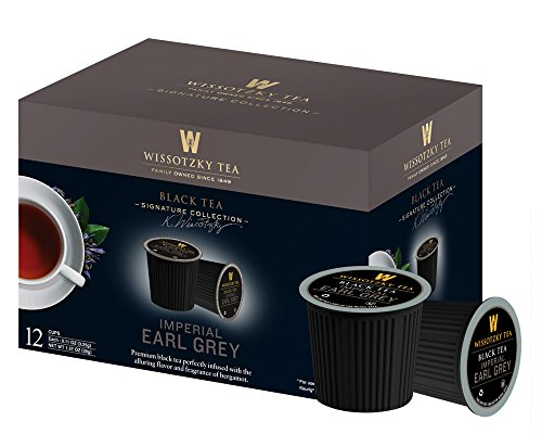 Wissotzky Black Tea Single Serve Cups for Keurig K Cups Brewers, Imperial Earl Grey, 12 Count (Pack of 8) (Single Tea Brewer compare prices)