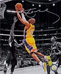 Los Angeles Lakers Kobe Bryant Autographed Hand Signed 8x10 Photo