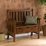 Southern Enterprises BC3044 Country Entryway Bench