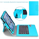MoKo Fire HD 10 2015 Keyboard Case - Wireless Bluetooth Keyboard Cover with Auto Wake / Sleep for Amazon Kindle Fire HD 10 Inch Display Tablet (2015 Release Only), Light BLUE