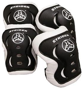 Strider Knee and Elbow Pad Set, Black by Strider Sports International, Inc.