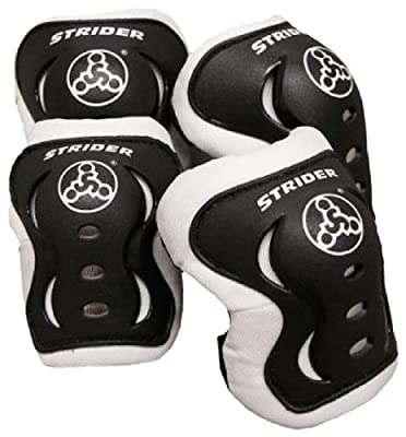 Strider Knee and Elbow Pad Set, Black by Strider Sports International, Inc.