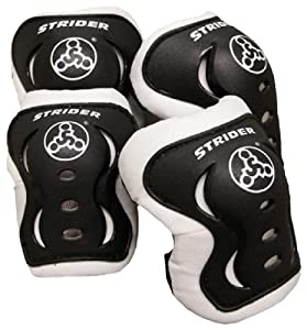Strider Knee and Elbow Pad Set, Black