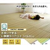 洗える PPカーペット 『バルカン』 ベージュ 本間6畳(286×382cm)