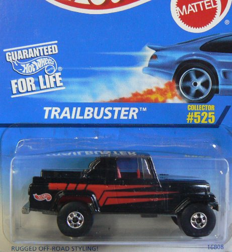 Mattel Hot Wheels 1997 1:64 Scale Black Trailbuster Die Cast Car Collector #525 - 1