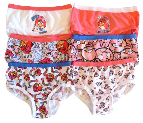"""Angry Bird's Girl's """"Epic Cute"""" Panty Brief 7-pk"""