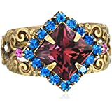 Sorrelli  Pointed Crystal Antique Silver-Tone Adjustable Ring