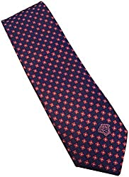 Versace Made In Italy Navy Blue Red Patterned 100% Silk Men's Tie