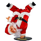 Dancing Santa Claus | Animated Christmas Decoration Indoor | Musical Holiday Figurine 10 Inch
