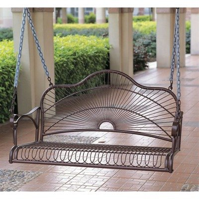 Iron Patio Sun Ray Porch Swing