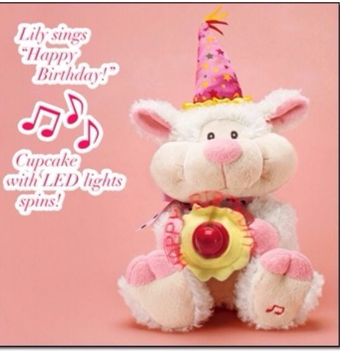 Singing Lily The Birthday Lamb With Spinning Cupcake Led Fan By Avon