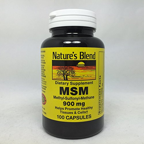 Nature`s Blend MSM 900mg Capsules 100 Capsules Pack of 6 (Msm 900 compare prices)