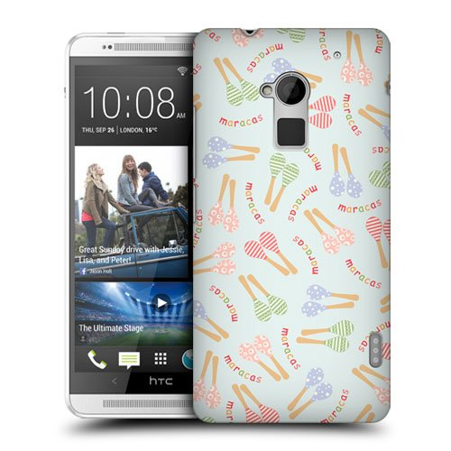 Head Case Designs Maracas Pajama Patterns Musical Instrument Protective Snap-on Hard Back Case Cover for HTC One Max