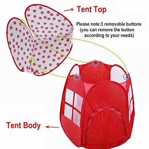 TOPFIRE Kids Ball House Hideaway Pop-Up Mushroom Shape Play Tent Cubby House u2013 Children Indoor / Outdoor Play Tent Pit Ball Pool  sc 1 st  Toys & TOPFIRE Kids Ball House Hideaway Pop-Up Mushroom Shape Play Tent ...