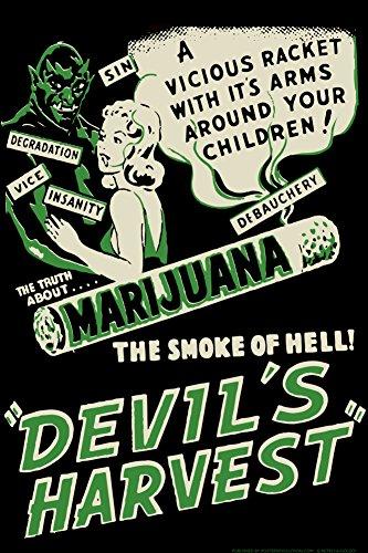Devil's Harvest Movie by Retro-A-Go-Go Poster 24 x 36in (The Devil Poster compare prices)