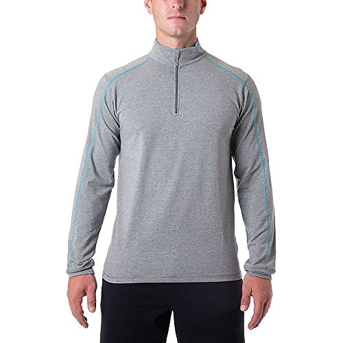 Tasc Performance Core 1/4-Zip Pullover Jacket, Heather Gray, Large front-1006973