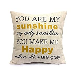 Uphome Decorative Inspirational Quotes Pillow Cover Personalized Custom Cotton Linen Pillowcase from Uphome