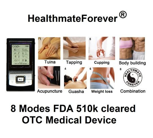 Fda Cleared Healthmateforever Hands Free Electrotherapy, Best Muscle Stimulator, 8 Modes , 8 Pcs Pads, Full Body Device System. 100% Quality Gurantee Lifetime Warranty