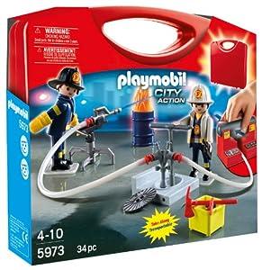Playmobil Carrying Case Firemen by PLAYMOBIL