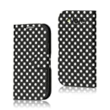 Black and White Polka Dot Pattern Magnetic Flip Hard Leather Case with Stand For Samsung Galaxy S3 i9300 Android (All carriers)