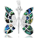 Tuscany Silver Pave Shell Butterfly Pendantby Tuscany Silver