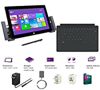 "Microsoft Surface Pro 2 Core i5-4200U 8G 256GB 10.6"" touch screen 1920x1080 Full HD Wacom Pen Windows 8 Pro Multi-position Kickstand(With Dock,Black Touch Cover,8Gb 256GB) from Microsoft"