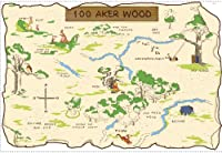 RoomMates RMK1502SLM Pooh and Friends 100 Aker Wood Map Peel & Stick Giant Wall Decal from RoomMates