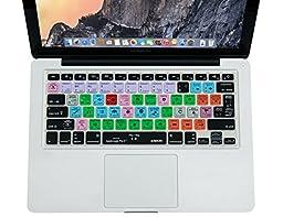 XSKN Macbook Shortcuts Design Series Adobe Hotkey Macbook Hot keys Silicone Laptop Keyboard Skin Cover for Macbook 13\
