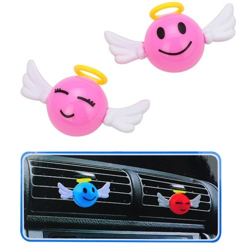 Best Plus 2 Pcs Cute Rainbow Angel Air Freshener For Car-Orchid Perfume front-393675