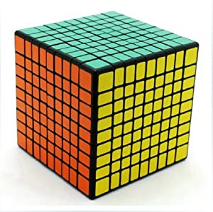 9x9x9 Cube Puzzle ,Black , World's First Squared 9x9,sticker Was Finish