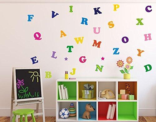 wandsticker buntes alphabet b x h 40cm x 40cm erh ltlich. Black Bedroom Furniture Sets. Home Design Ideas