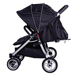 Red Kite Push Me Twini Twin Jogger Pushchair - Carbon Black : New Product