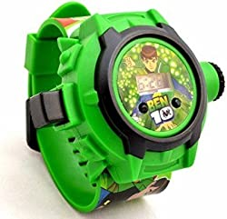 DFS's premium BEN10 PROJECTOR WATCH (24 Images)(Multi-Colour) -- Electronic Digital Toy Watch -- Birthday Return Gift