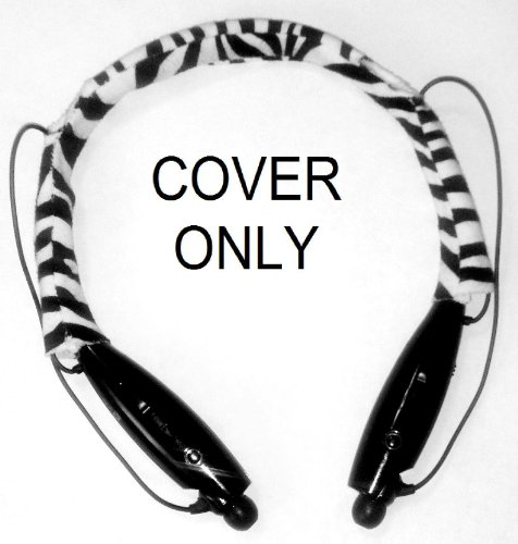 Fleece Mysoftcover Headset Cover To Fit Lg Tone (Short Style Zebra-Black)