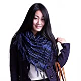 Anuze Fashions New Styles Scarves Arab Shemagh Arafat Scarf For Women's And Girl's (DARK BLUE ARAFAT-OPP-145DEAX2)