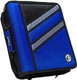 Case-it Z-Binder Two-in-One 1.5-Inch D-Ring Zipper Binder, Blue, Z-176-BLU