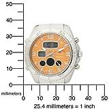 U.S. Polo Assn. Men's US8446 Analog-Digital Orange Dial Silver-Tone Bracelet Watch