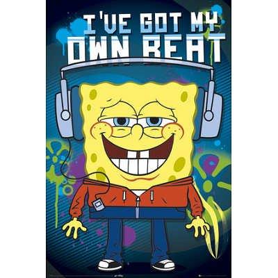 (24X36) Spongebob-Headphones Poster