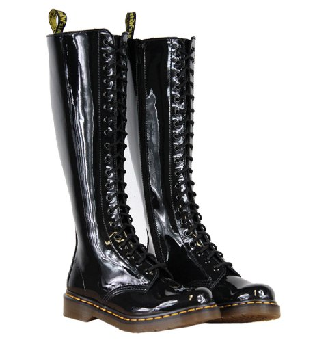 Dr. Martens Women'S 1B60 20-Eye Boot,Black Patent,6 Uk (Us Women'S 8 M)
